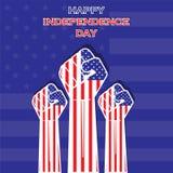 Día de la Independencia de diseño unido del estado ilustración del vector