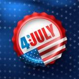 Día de la Independencia 4 de julio Los E.E.U.U. Día de la Independencia 4 de julio feliz Foto de archivo