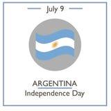 Día de la Independencia de la Argentina, el 9 de julio libre illustration