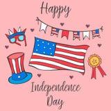 Día de la Independencia de la tarjeta del ejemplo del vector