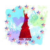 Día de la Independencia de los E.E.U.U. ejemplo, ilustración del vector