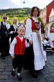 Día de la Independencia de Noruega. 17 de mayo. Bergen. Fotografía de archivo