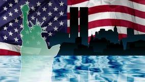 Día de la Independencia de Nueva York stock de ilustración