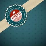 Día de la Independencia del americano de la tarjeta de felicitación Foto de archivo libre de regalías