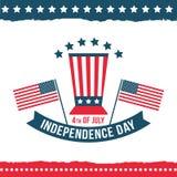 Día de la Independencia del sistema del cartel de Estados Unidos Imagen de archivo