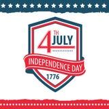 Día de la Independencia del sistema del cartel de Estados Unidos Imagenes de archivo