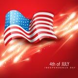 Día de la Independencia el 4 de julio Imagen de archivo libre de regalías