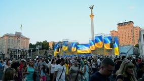 Día de la Independencia en Kiev, Ucrania, almacen de metraje de vídeo
