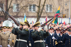 Día de la Independencia en Vilna Imagen de archivo libre de regalías