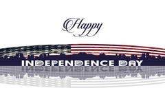 Día de la Independencia feliz de jpg del ejemplo del vector de los Estados Unidos de América Fotos de archivo libres de regalías