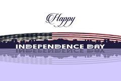Día de la Independencia feliz de jpg del ejemplo del vector de los Estados Unidos de América Fotos de archivo