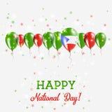 Día de la Independencia de la Guinea Ecuatorial que chispea Imagenes de archivo