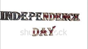 Día de la Independencia, icono, muestra, el mejor 3D ejemplo, la mejor animación almacen de metraje de vídeo