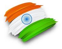 Día de la Independencia de la India décimo quinto August Card con la bandera nacional stock de ilustración