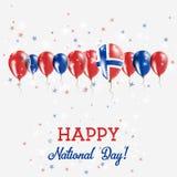 Día de la Independencia de la isla de Bouvet que chispea Foto de archivo