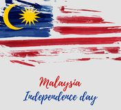 Día de la Independencia de Malasia - día de fiesta de Hari Merdeka stock de ilustración