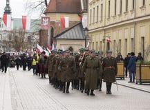 Día de la Independencia nacional, Kraków, Polonia 2017 Foto de archivo libre de regalías