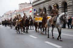 Día de la Independencia polaco el 11 de noviembre de 2010 Foto de archivo libre de regalías