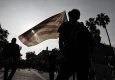 Día de la Independencia de la república de Catalona imagenes de archivo
