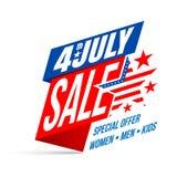 Día de la Independencia venta del 4 de julio Día de la Independencia feliz de los E.E.U.U. Fotografía de archivo libre de regalías