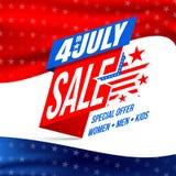 Día de la Independencia venta y descuento del 4 de julio Fotos de archivo