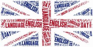 Día de la lengua inglesa Celebrado el 23 de abril Foto de archivo libre de regalías