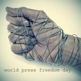 Día de la libertad de prensa del mundo foto de archivo libre de regalías