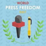 Día de la libertad de prensa del mundo, el 3 de mayo libre illustration