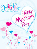 Día de la madre artístico abstracto stock de ilustración