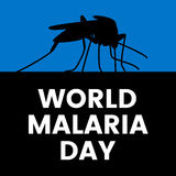 Día de la malaria del mundo ilustración del vector