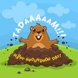 Día de la marmota y tadaam felices Fotos de archivo