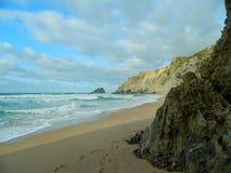 Día de la playa en invierno Imagen de archivo