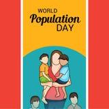 Día de la población de mundo Imagen de archivo libre de regalías