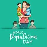 Día de la población de mundo Foto de archivo