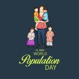 Día de la población de mundo Fotografía de archivo