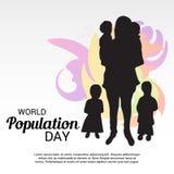Día de la población de mundo Fotos de archivo libres de regalías
