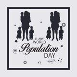 Día de la población de mundo Imagenes de archivo