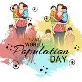 Día de la población de mundo Foto de archivo libre de regalías