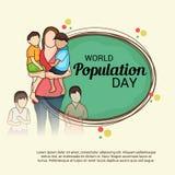 Día de la población de mundo Fotos de archivo