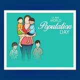 Día de la población de mundo Fotografía de archivo libre de regalías