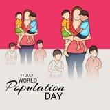 Día de la población de mundo Imágenes de archivo libres de regalías