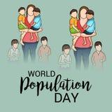 Día de la población de mundo Imagen de archivo