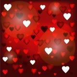Día de la postal de tarjeta del día de San Valentín del St Fotografía de archivo