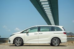Día de la prueba de conducción de Honda Odyssey 2018 imagen de archivo libre de regalías