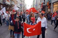 Día de la república celebrado en Turquía Imagen de archivo libre de regalías