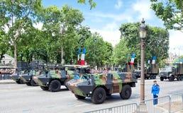 Día de la república en los campeones Elysees en París Imagen de archivo libre de regalías