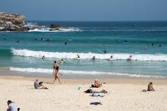 Día de la resaca de la playa de Bondi Foto de archivo libre de regalías