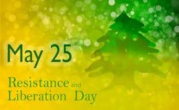 Día de la resistencia y de la liberación en Líbano Imagen de archivo libre de regalías