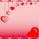 Día de la tarjeta del día de San Valentín s Imagen de archivo