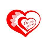 Día de la tarjeta del día de San Valentín s Imágenes de archivo libres de regalías